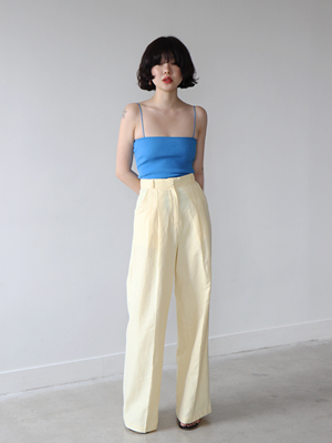 yellow high waist trousers