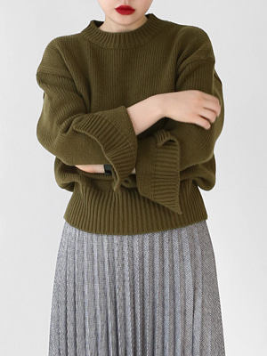 cut out sleeve knit(navy,khaki,gray!)