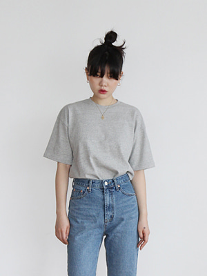 basic thick tee(gray,navy!)