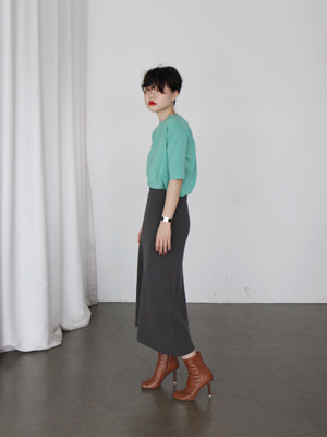 wool long skirt(camel,charcoal!)