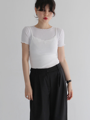 lace cami top(white,black!)