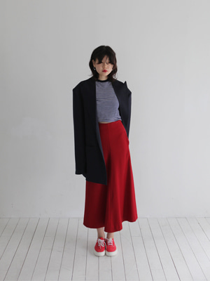 (freckle made♥)lightwool long skirt(ivory,red!)(SALE!)