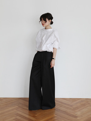 (freckle made♥)lightwool wide leg trousers