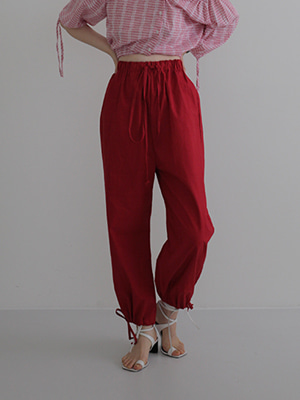 string wide leg pants(red,navy!)