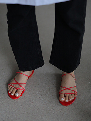 cross strap sandals(red,lilac,black!)