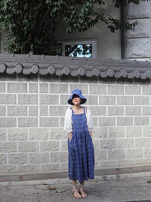 (freckle made♥)pinafore dress+big hat