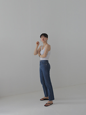 slim stretch denim pants(2colours!)