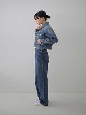 cropped denim jacket(blue,black!)