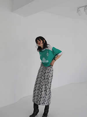 (freckle made♥)long skirt in snake