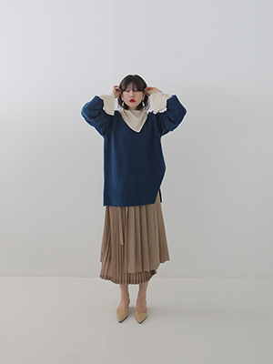 cut out bulky knit(3colours!)