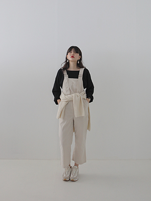cream cotton overall