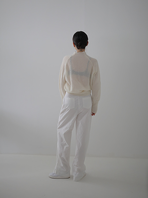cotton trousers(white,black!)