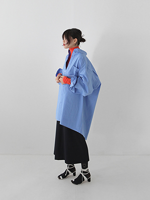 oversized pocket shirts(white,blue!)