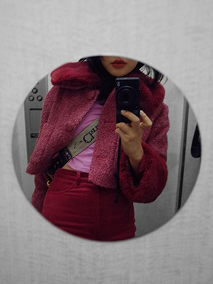 (freckle made♥)pink fur trim jacket