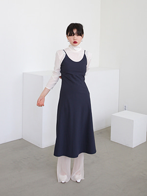 u neck slip dress(light gray,navy!)