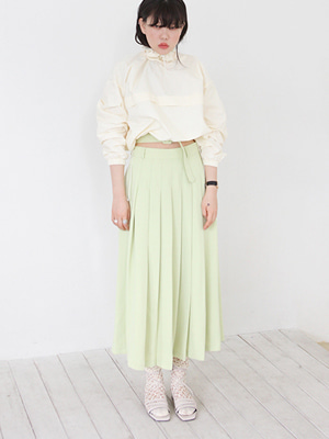 pleats skirt with belt(3colours!)