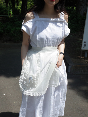 (freckle made♥)vintage mood off shoulder dress(white!)