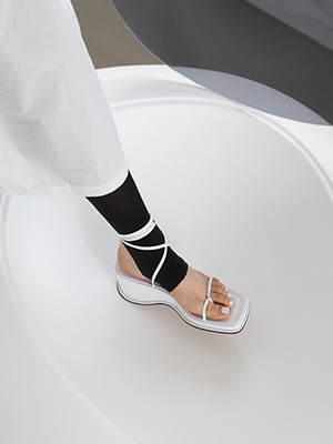 (freckle made♥)tie  leg  chunky  sandals (white,black!)