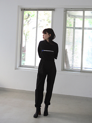 daily high waist trousers(white,black!)