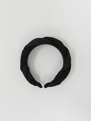 black satin plaited headband