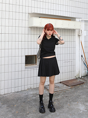 (freckle made♥)slit pleats skirt