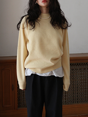 yellow thick roundneck knit