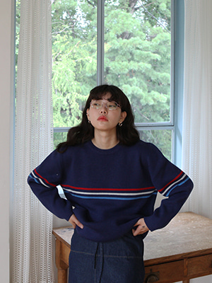 colour stripe pullover