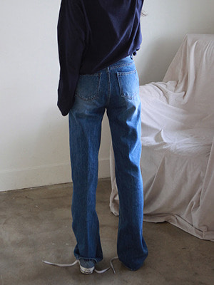blue long straight jeans