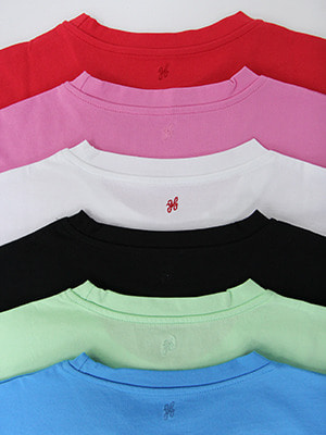 (freckle made♥)daily crew neck cotton tee(6colours!)