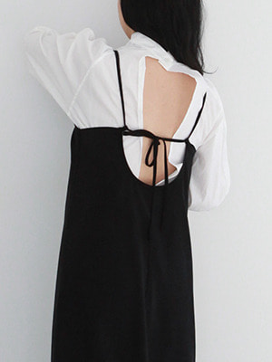 (freckle made♥)back open minimal dress(white)
