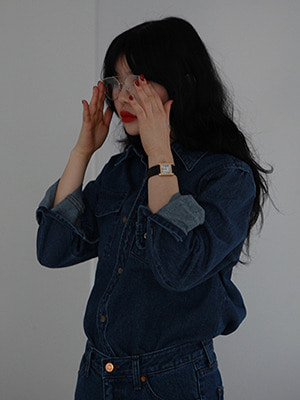 deep blue denim shirts