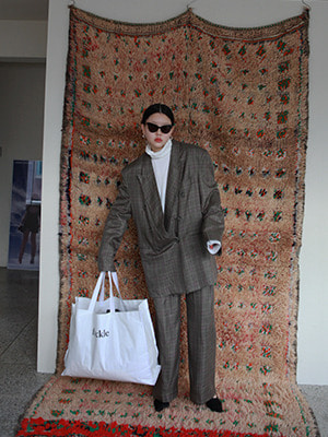 (freckle made♥)khaki check suit