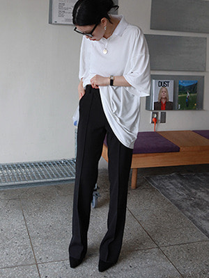 (neu adult)simple straight slacks