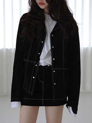 black suede jacket(order made)
