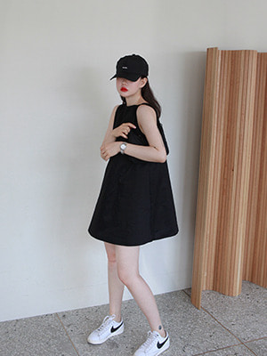 (freckle made♥)bateau neck mini dress