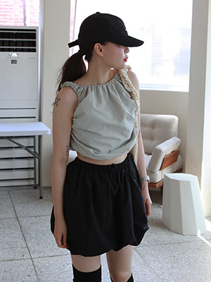 (freckle made♥)scrunchy banding crop top