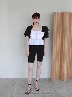 (freckle made♥)string ribbon top