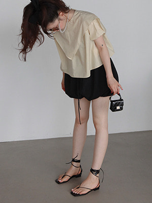 (freckle made♥)back tie sailor blouse