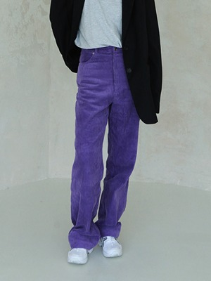 (freckle made♥)oversize corduroy pants(green,purple!)