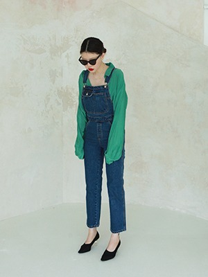 (freckle made♥)denim overall pants