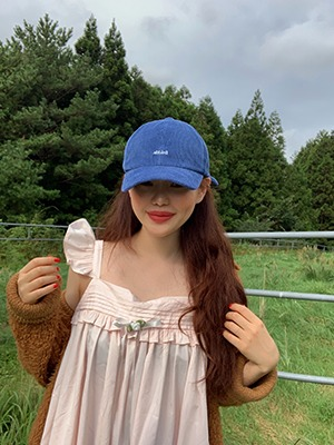 (freckle made♥)freckle corduroy cap in blue / pre_order 9.24~28 오후 6시 까지