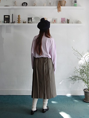 wearable check pleats skirt