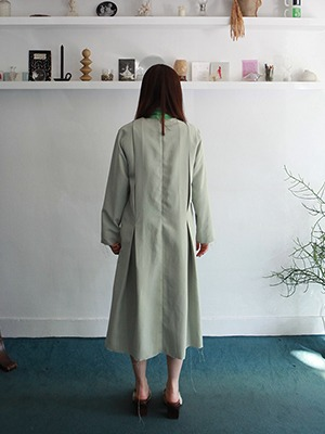 raw hem mint dress