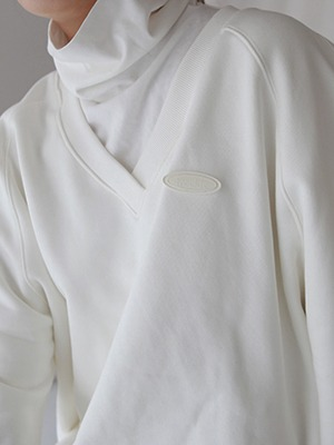 (freckle made♥)oversized v neck mtm(2colours!)