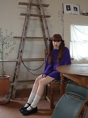 (freckle made♥)carrie knit dress(purple!)