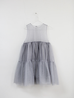(freckle made♥)gray tulle dress