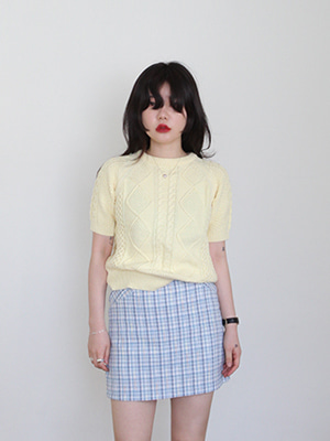 tweed mini skirt(beige,blue!)