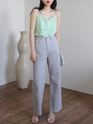 pale gray straight pants