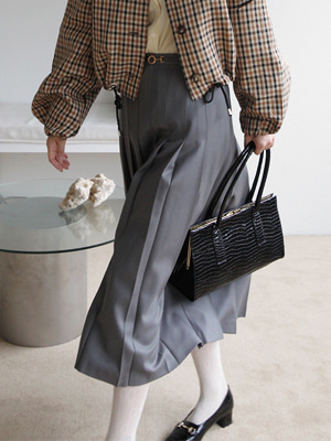 snaffle bit wool pleats skirt