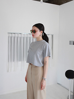 simple stretchy crop tee(3colours!)